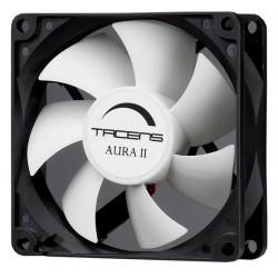 Tacens - Aura II 8cm Carcasa del ordenador Ventilador Negro Blanco
