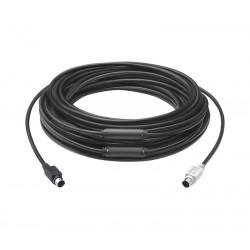 Logitech - 939-001490 cable ps/2 15 m 6-p Mini-DIN Negro
