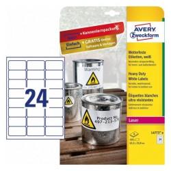 Avery - L4773-8 etiqueta de impresora Blanco Etiqueta para impresora autoadhesiva