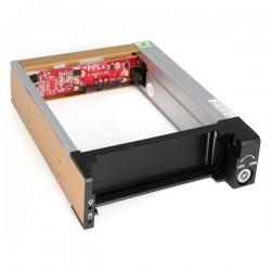 StarTechcom - Rack Mvil Aluminio Reforzado Disco Duro HDD SATA 35 Pulgadas con Bandeja Baha 525