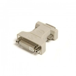 StarTechcom - Adaptador Conversor DVI-I a VGA - DVI-I Hembra - HD15 Macho - Blanco