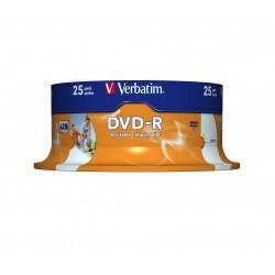 Verbatim - 43538 DVD en blanco 47 GB DVD-R 25 piezas