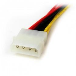 StarTechcom - Adaptador Cable Divisor Molex 4 Pines a SATA - 2x Hembra SATA y 1x Macho LP4