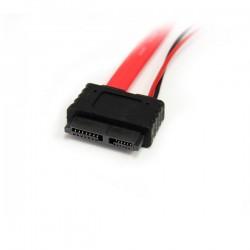 StarTechcom - Adaptador Cable SATA Slimline Lnea Delgada 13 Pines a Molex Macho LP4 y SATA
