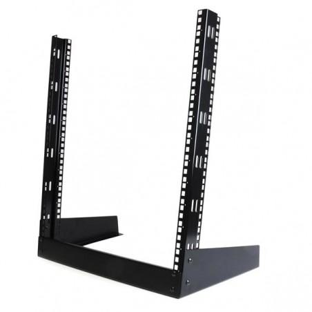 StarTechcom - Rack Armario Bastidor Abierto de Escritorio Desktop Sobremesa de 2 Columnas 12U 05m Negro