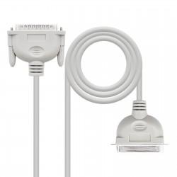 Nanocable - 10130102 adaptador de cable VGA D-Sub IEEE1284 Gris