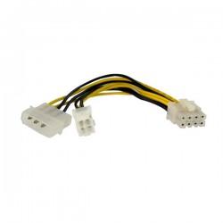 StarTechcom - Adaptador de corriente EPS de 4 Pines a 8 Pines de 6 pulgadas con LP4 - H/M