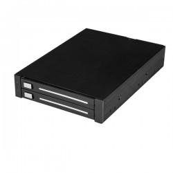StarTechcom - Caja Rack SATA de 2 Bahas de 25 Pulgadas para Baha de 35 Pulgadas RAID sin Bandeja de Intercambio en Caliente