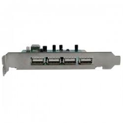 StarTechcom - Adaptador Tarjeta PCI USB 20 de Alta Velocidad 7 Puertos - 4 Externos y 3 Internos