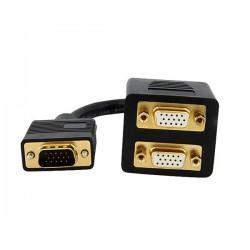 StarTechcom - Cable de 30cm Duplicador Divisor de Vdeo VGA de 2 puertos Salidas Compacto - Bifurcador