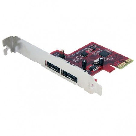 StarTechcom - Tarjeta Adaptadora Controladora PCI Express PCIe 2 Puertos eSATA - SATA III 6Gbps