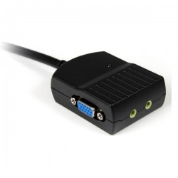 StarTechcom - Mini Duplicador Divisor de Vdeo VGA y Audio de 2 puertos HD15 Compacto - Cable Splitter