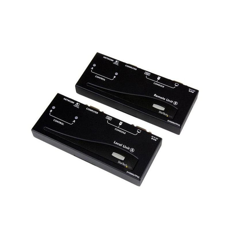 StarTechcom - Extensor de Consola KVM por Cat 5 Ethernet 300m con USB - Vdeo VGA