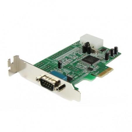 StarTechcom - Tarjeta Adaptadora PCI Express PCIe Perfil Bajo de un Puerto Serie RS232 DB9 UART 16550