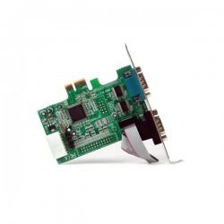 StarTechcom - Tarjeta Adaptadora PCI Express PCIe de 2 Puertos Serie RS232 DB9 UART 16550 Serial