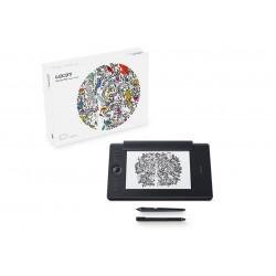 Wacom - Intuos Pro Paper Edition M South tableta digitalizadora Negro 5080 lneas por pulgada 224 x 148 mm USB/Bluetooth