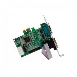StarTechcom - Tarjeta Adaptadora PCI Express de 2 Puertos Serie y 1 Paralelo RS232 UART 16550 Serial