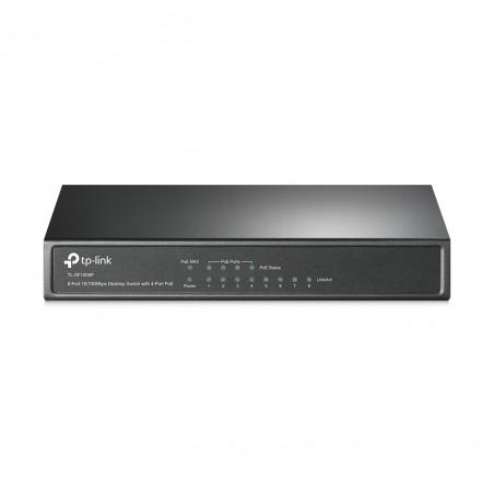 TP-LINK - 8-port 10/100 PoE Switch No administrado Negro Energa sobre Ethernet PoE