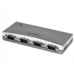 StarTechcom - Hub Concentrador USB a 4 Puertos Serie RS232 - Ladrn Serie DB9 - Adaptador USB a Serie