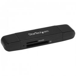 StarTechcom - Lector Grabador USB 30 USB-C Tipo C y USB-A de Tarjetas de Memoria Flash SD Micro SD Alimentado por USB