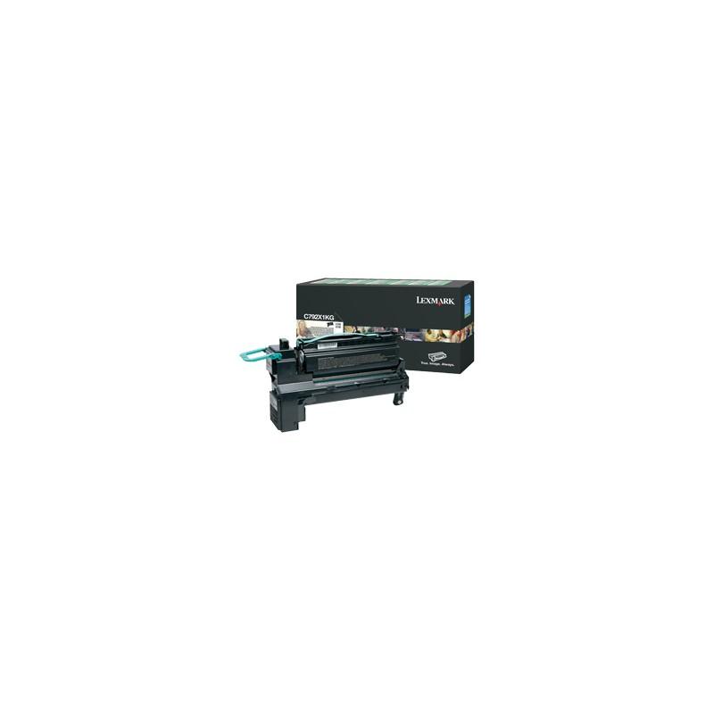 Lexmark - C792X1KG cartucho de tner Original Negro 1 piezas