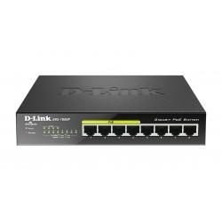 D-Link - DGS-1008P switch No administrado Gigabit Ethernet 10/100/1000 Negro Energa sobre Ethernet PoE