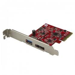 StarTechcom - Tarjeta PCI Express USB 31 de 10 Gbps y eSATA - Hub Ladrn Interno PCI-E USB y eSATA para Ordenador de Sobremesa