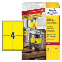 Avery - L6127-8 etiqueta de impresora Amarillo Etiqueta para impresora autoadhesiva
