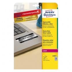 Avery - L6009-8 etiqueta de impresora Plata Etiqueta para impresora autoadhesiva