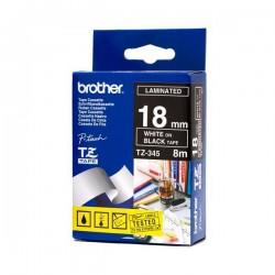 Brother - TZ-345 cinta para impresora de etiquetas Blanco sobre negro