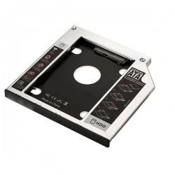 Ewent - EW7003 Acrilonitrilo butadieno estireno ABS Aluminio Negro Blanco funda para disco duro externo