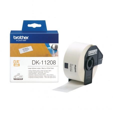 Brother - Etiquetas precortadas de direccin grandes papel trmico