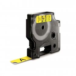 DYMO - D1 - Etiquetas estndar - Negro sobre amarillo - 12mm x 7m