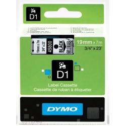 DYMO - D1 - Etiquetas estndar - Negro en claro - 19mm x 7m