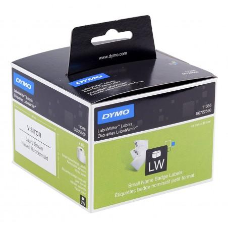 DYMO - LW -Etiquetas para tarjetas de identifi cacin de tamao pequeo - 41 x 89 mm - S0722560
