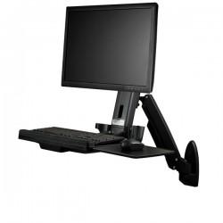 StarTechcom - Estacin de Trabajo de Pie y Sentado para Montaje en Pared - Para Un Monitor de hasta 24 Pulgadas - Escritorio Er