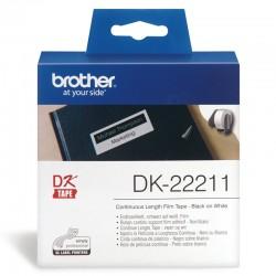 Brother - Cinta continua de pelcula plstica blanca - DK-22211