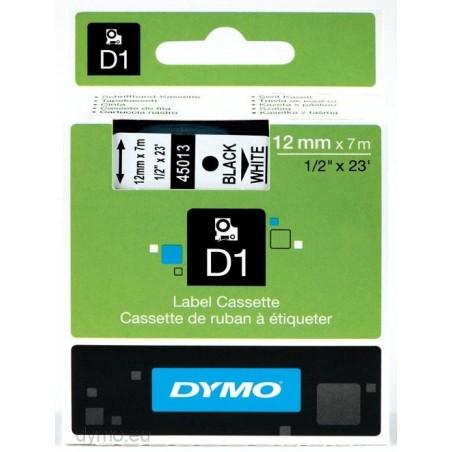 DYMO - D1 - Etiquetas estndar - Negro sobre blanco - 12mm x 7m