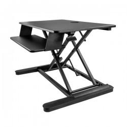 StarTechcom - Estacin de Trabajo de Pie y Sentado para Dos Monitores de hasta 24 o Un Monitor de 30 - Escritorio Ergonmico