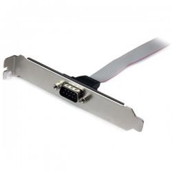 StarTechcom - Adaptador de 40cm de Header Bracket Serie DB9 RS232 a IDC 10 Pines para Placa Base - Cabezal Serial