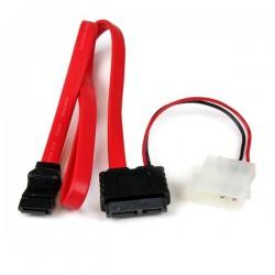 StarTechcom - Cable SATA de Lnea Delgada a SATA de 36 pulgadas con Adaptador de Alimentacin LP4
