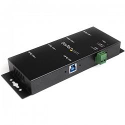 StarTechcom - Hub Industrial de 4 Puertos USB 30 con Proteccin Antiesttica ESD