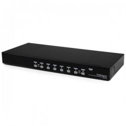 StarTechcom - Conmutador Switch KVM 8 Puertos de Vdeo VGA HD15 USB 20 USB A - 1U Rack Estante