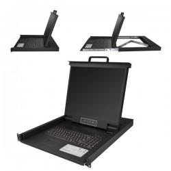 StarTechcom - Consola para Armario Rack con KVM VGA y Pantalla de 19 Pulgadas - 1U