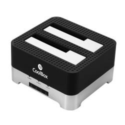 CoolBox - DuplicatorDock 2 USB 32 Gen 1 31 Gen 1 Type-B Negro Plata