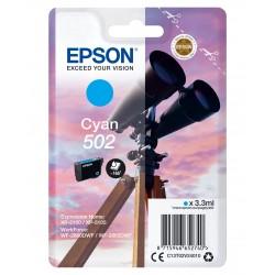 Epson - Singlepack Cyan 502 Ink - C13T02V24020