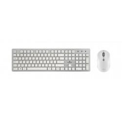 Bluestork - PACK-EASY-II-N/SP teclado Espaol Plata Blanco