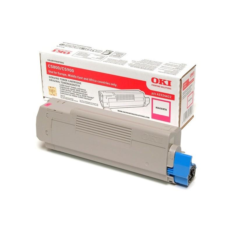 OKI - 43324422 cartucho de tner Original Magenta 1 piezas