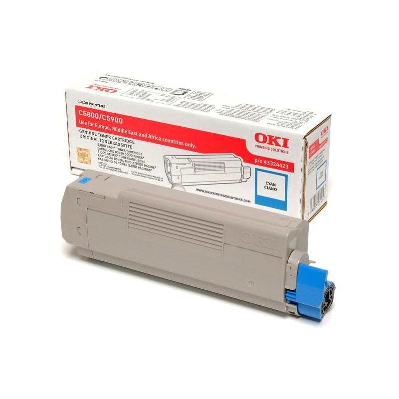 OKI - 43324423 cartucho de tner Original Cian 1 piezas