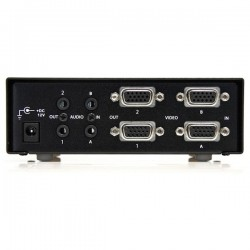 StarTechcom - Conmutador Matrix VGA de 2 Puertos 2x2 con Audio - Switch Selector - 1920x1440